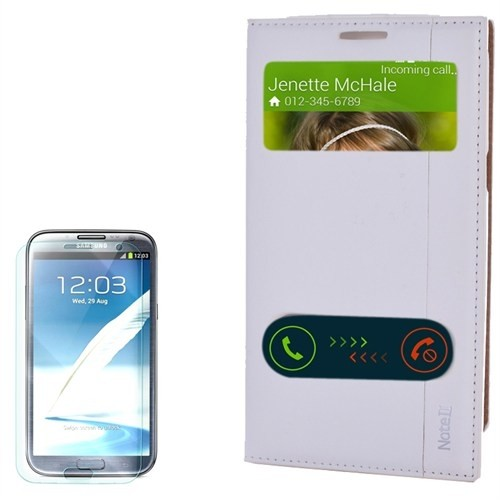 Cep Market Samsung Galaxy Note 2 Kılıf Pencereli Kapaklı Milano Cam