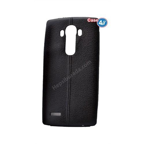 Case 4U Lg G4 Stylus Parlak Desenli Silikon Kılıf Siyah
