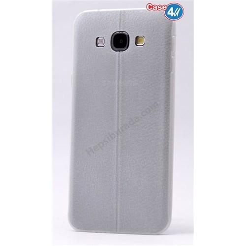 Case 4U Samsung A5 Parlak Desenli Silikon Kılıf Beyaz