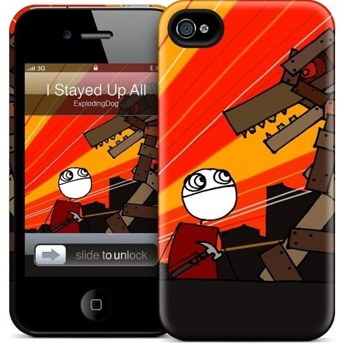 Gelaskins Apple iPhone 4 Hardcase Kılıf I Stayed Up All Night