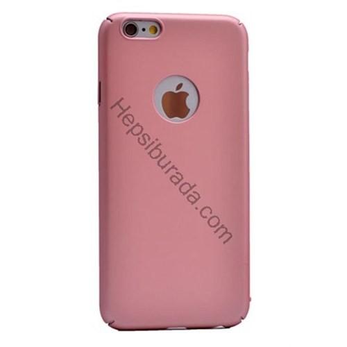 Case 4U Apple İphone 6 Rubber Arka Kapak Pembe