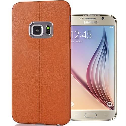 Coverzone Samsung Galaxy S6 Edge Kılıf Deri Silikon
