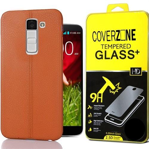 Coverzone Lg G2 Kılıf Deri Dizayn Silikon + Cam