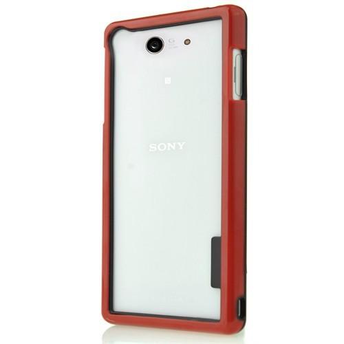 Coverzone Sony Xperia Z3 Kılıf Silikon Bumper Çerçeve + Temperli Cam