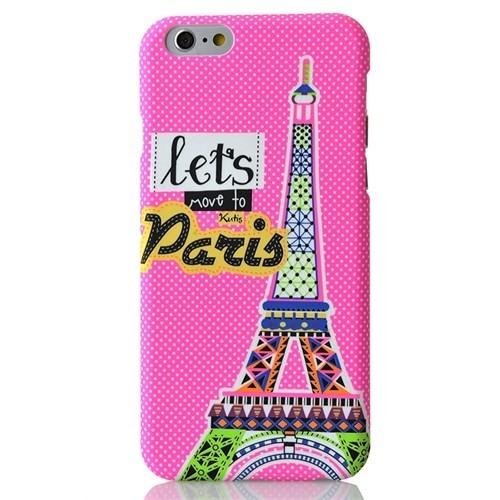 CoverZone İphone 6 Kılıf Sert Arka Kapak Let's Move To Paris