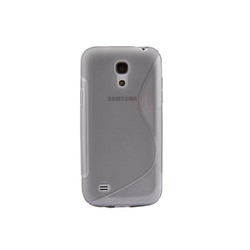 Duck Samsung Galaxy S4 Mini Silikon Kilif Dalga Desenli Şeffaf Kapak