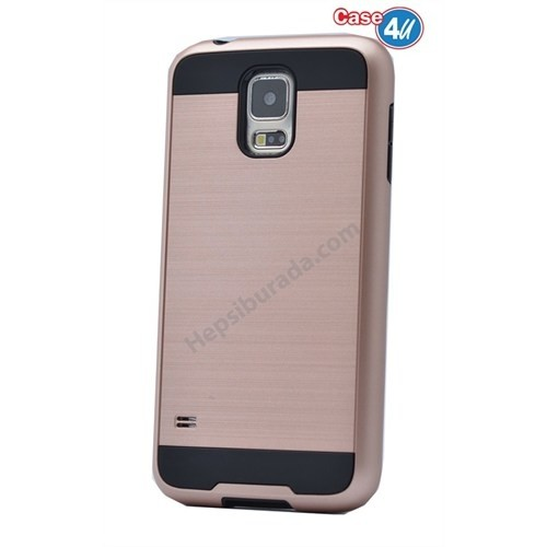 Case 4U Samsung Galaxy S5 Korumalı Kapak Rose Gold