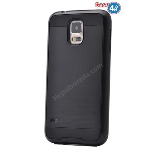 Case 4U Samsung Galaxy S5 Korumalı Kapak Siyah