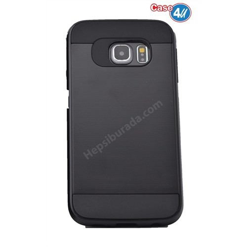 Case 4U Samsung Galaxy S6 Edge Plus Korumalı Kapak Siyah