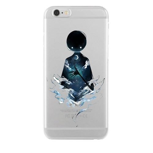 Remeto Samsung Galaxy A7 Transparan Silikon Resimli Gecenin Hayaleti