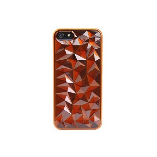 Vacca Apple İphone 5 Plexy Diamond Orange Kapak