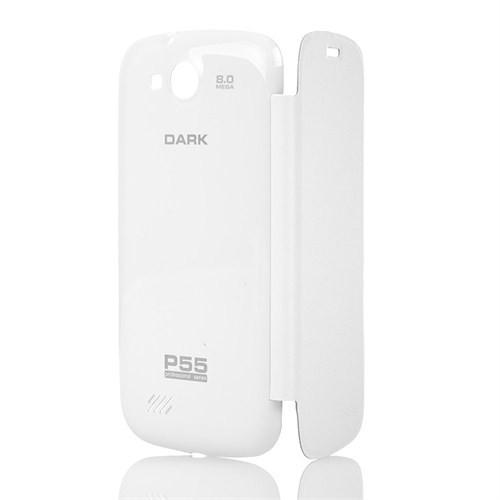 Dark P55 Kitap Tipi (Flip Cover) Kapaklı Kılıf - Beyaz (DK-AC-EVOP55KL2W)