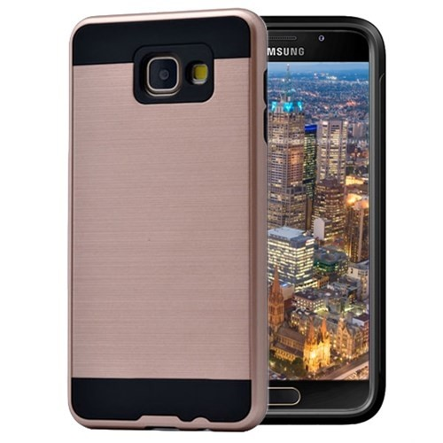 Microsonic Samsung Galaxy A3 2016 Kılıf Slim Heavy Duty Gold