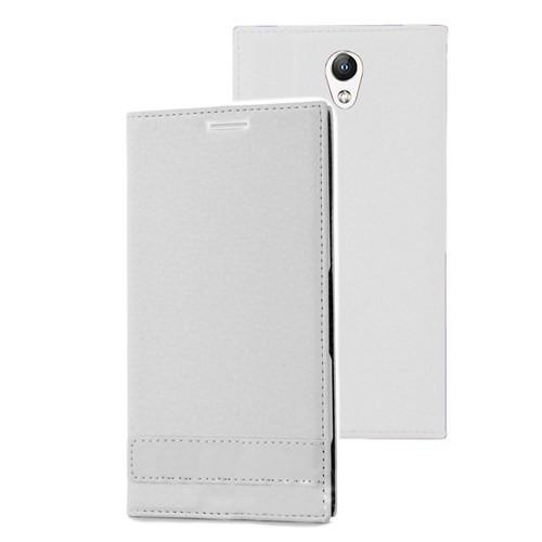 Microsonic Lenovo Vibe S1 Kılıf Gizli Mıknatıslı Delux Beyaz