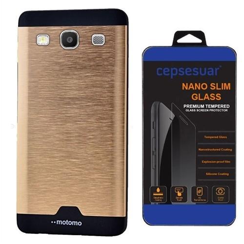 Cepsesuar Samsung Galaxy S3 Kılıf Motomo Gold + Cam