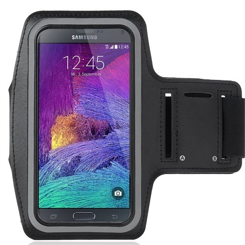 Case 4U Samsung Galaxy Note 2 Kol Bandı Siyah
