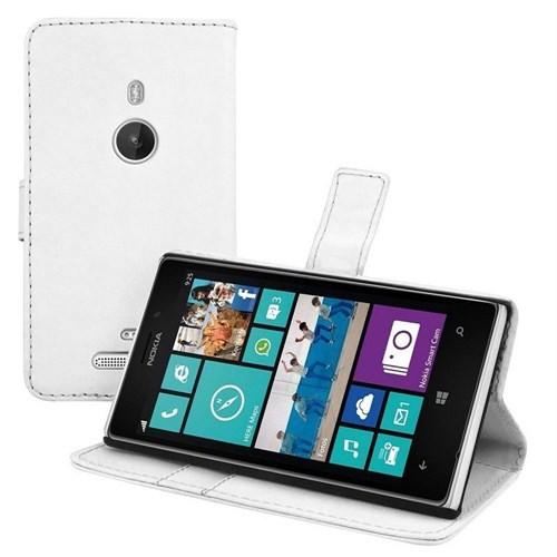 Case 4U Nokia Lumia 925 Cüzdan Kılıf Beyaz