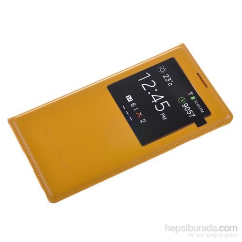 Qapak Samsung Galaxy Note 3 Pencereli Flipcover Kılıf Hardal uz244434003522