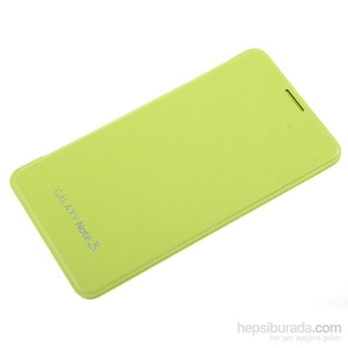 Qapak Samsung Galaxy Note 3 Flipcover Kılıf Yeşil uz244434003535
