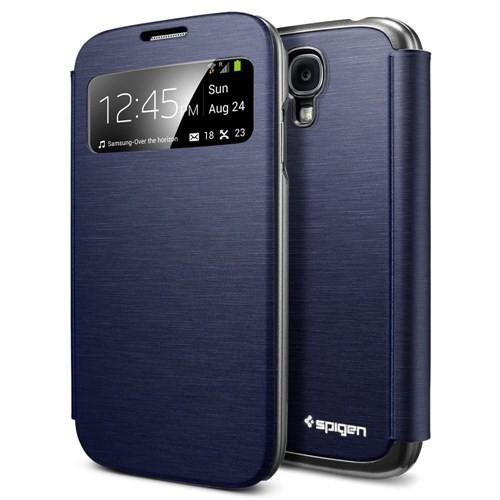 Spigen Samsung Galaxy S4 i9500 Ultra Flip View Metallic Navy