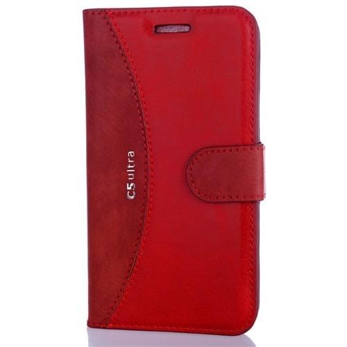 CoverZone Sony Xperia C5 Ultra Kılıf Cüzdan Kapaklı