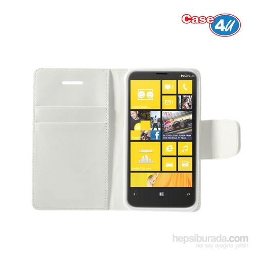 Case 4U Nokia Lumia 920 Beyaz Kapaklı Kılıf