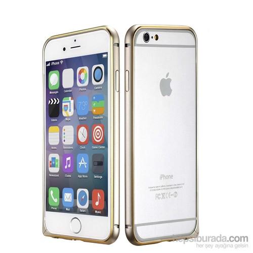 Case 4U Apple iPhone 6 Ultra Thin Metal Çerçeve Gümüş