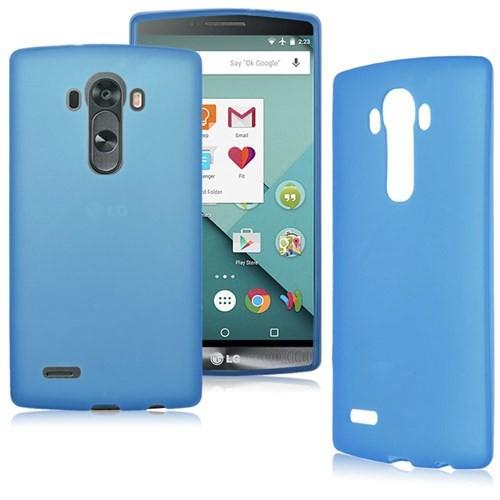 Case 4U LG G4 Stylus Soft Silikon Kılıf Mavi