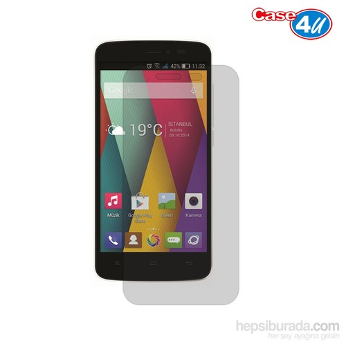 Case 4U General Mobile Discovery 2 Mini Ultra Şeffaf Ekran Koruyucu