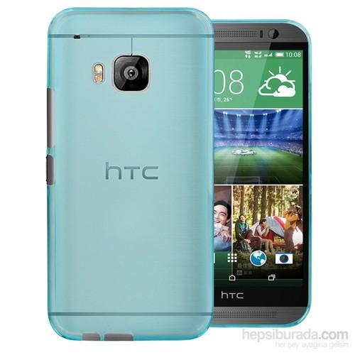 Case 4U HTC One M9 Ultra İnce Mavi Silikon Kılıf