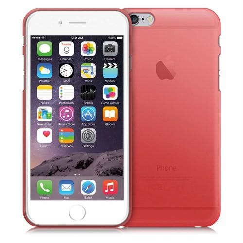 Case 4U Apple İphone 6S Ultra İnce Silikon Kılıf Kırmızı