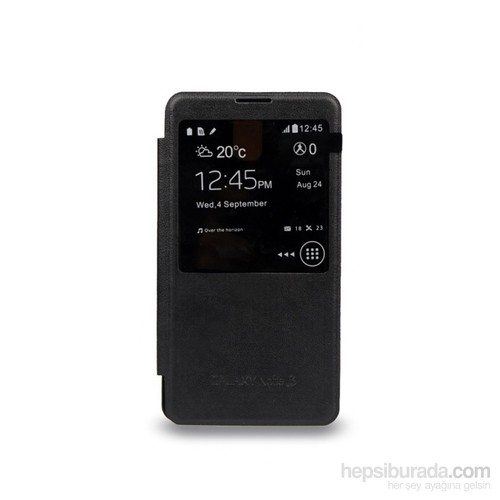 Case 4U Samsung Galaxy Note 3 N9000 Akıllı Kılıf Siyah