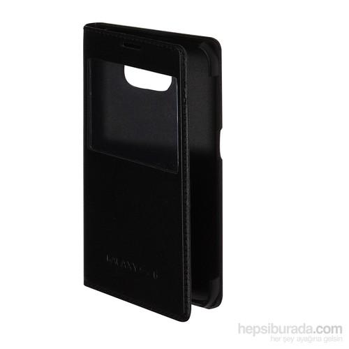 Inovaxis Samsung S6 Flip Cover Kılıf Kapak Siyah