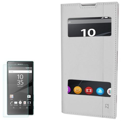 Cep Market Sony Xperia Z2 Kılıf Pencereli Milano Cam