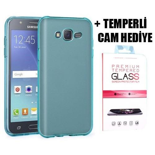 Coverzone Samsung Galaxy J5 Silikon Kılıf + Temperli Cam