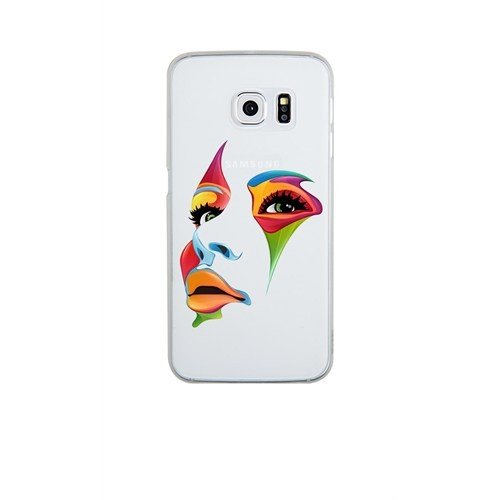 Remeto Samsung S6 Edge Plus Silikon Renkli Yüz