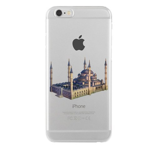 Remeto iPhone 6/6S Plus Şeffaf Transparan Silikon Resimli Sultan Ahmet Cami