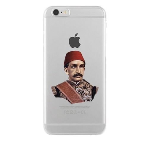 Remeto iPhone 4/4S Şeffaf Transparan Silikon Resimli Sultan Abdulhamid Han Kapak