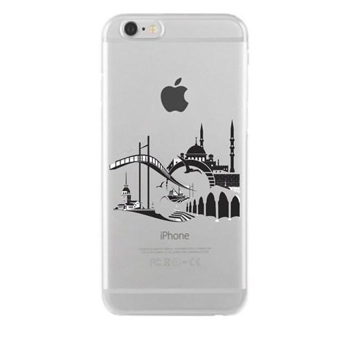 Remeto iPhone 4/4S Şeffaf Transparan Silikon Resimli İstanbul Silüet