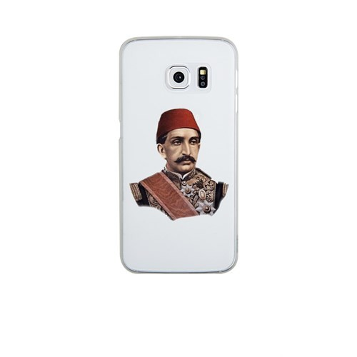Remeto Samsung Galaxy S6 Edge Şeffaf Transparan Silikon Resimli Sultan Abdulhamid Han Kapak