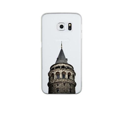 Remeto Samsung Galaxy S6 Edge Şeffaf Transparan Silikon Resimli Galata Kulesi