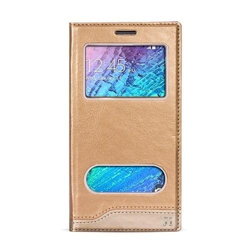 Volpawer Samsung Galaxy J1 Gizli Mıknatıslı Pencereli Kılıf