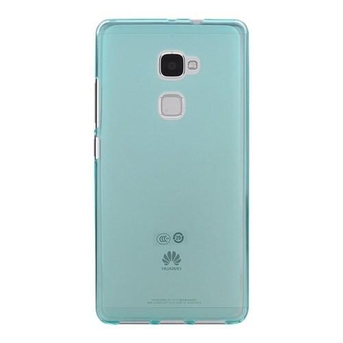 Teleplus Huawei Mate S Silikon Kılıf Mavi +Temperli Cam Ekran Koruyucu