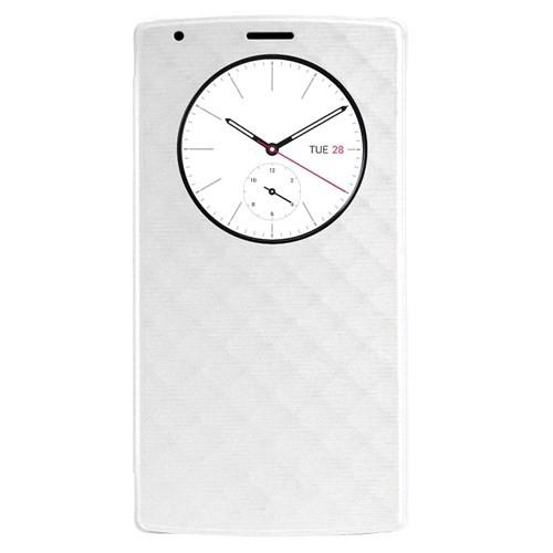 Case 4U LG G4 Flip Cover Beyaz (Uyku Modlu)