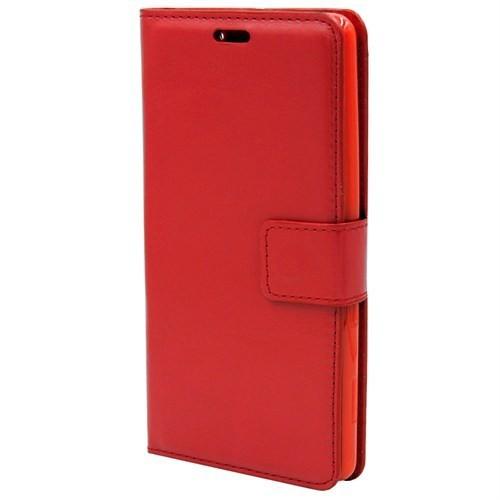 Kny Asus Zenfone 6 Cüzdanlı Kapaklı Kılıf Kırmızı Kılıf+Cam