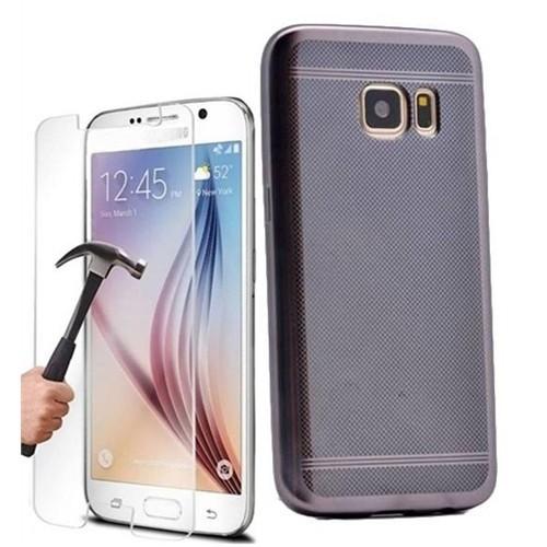 Kılıfshop Samsung Galaxy S7 Strom Silikon Kılıf (Siyah) + Ekran Koruyucu