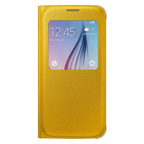 Samsung Galaxy S6 S View Cover Fabric Sarı Kılıf - EF-CG920PYEGWW