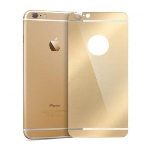 Cyber Apple iPhone 6 6S Gold Aynalı Ekran Koruyucu Cam Ön-Arka