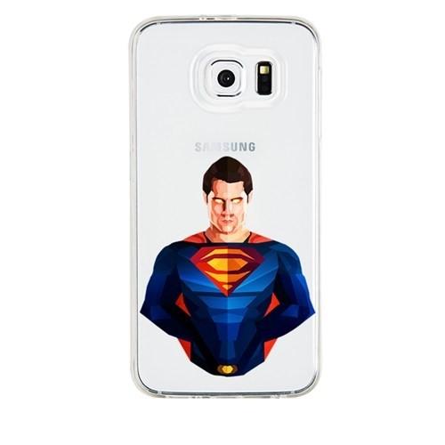 Remeto Samsung Galaxy A3 Transparan Silikon Resimli Superman