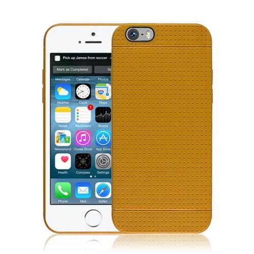Microsonic iPhone 6 (4.7'') Dot Style Silikon Kılıf Sarı - CS120-DOT-IP6-SRI